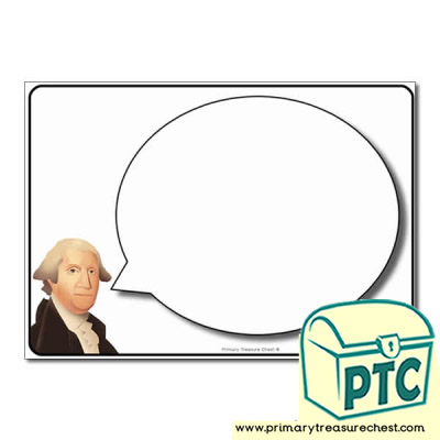 George Washington Speech Bubble Worksheet