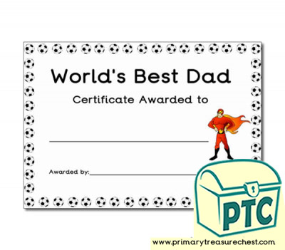 'World's Best Daddy' Father's Day Certificate