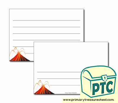 Volcano Landscape Page Border/Writing Frame (wide lines)