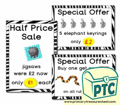Zoo Gift Shop Special Offers (21p-£99)