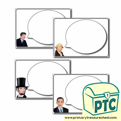 Presidents' Speech Bubble Worksheet