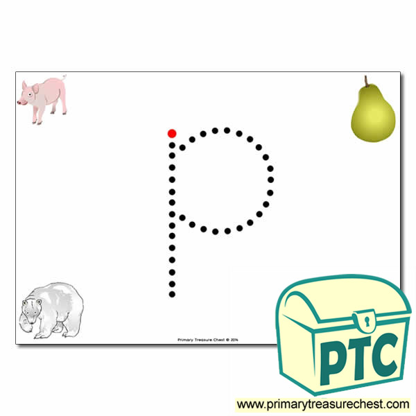 'p' Lowercase Letter Formation Activity - Join the Dots