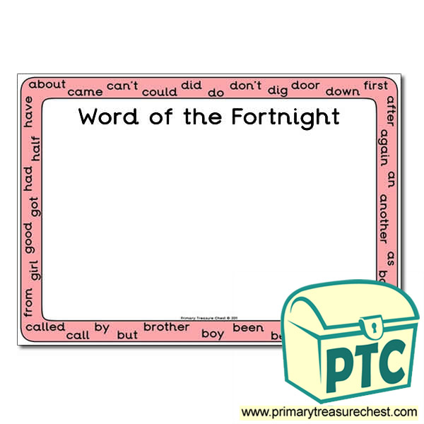 HF Words (Year 1 & 2) - 'Word of the Fortnight' Poster
