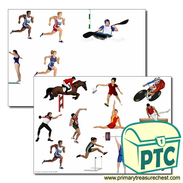 Sporting Events Storyboard / Cut & Stick Images