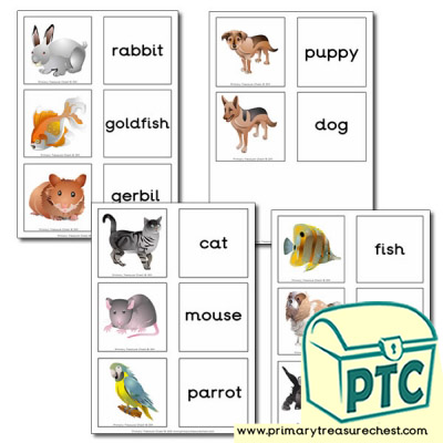 Pet Animals Themed Matching Cards