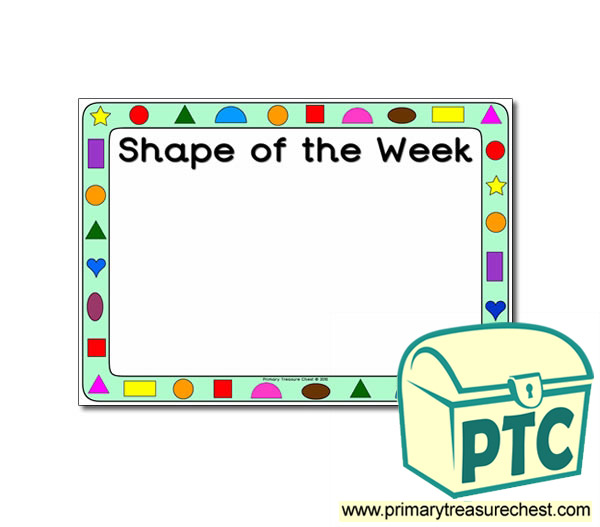 Shape of the Week Poster