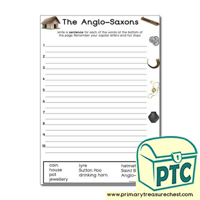 Anglo-Saxon Themed Sentence Worksheet