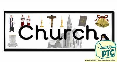 'Church' Display Heading/ Classroom Banner