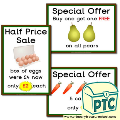 Farm Shop Role Play Special Offers (21p to £99)