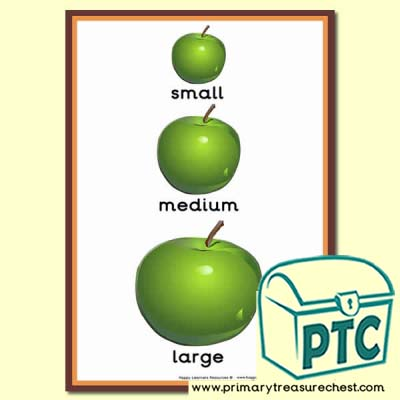 Apple Themed Different Sizes Poster