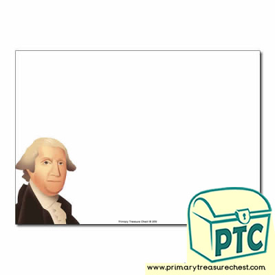 George Washington Themed Landscape Page Border/Writing Frame (no lines)