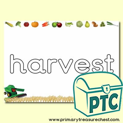 Literacy 'harvest' Playdough Mat