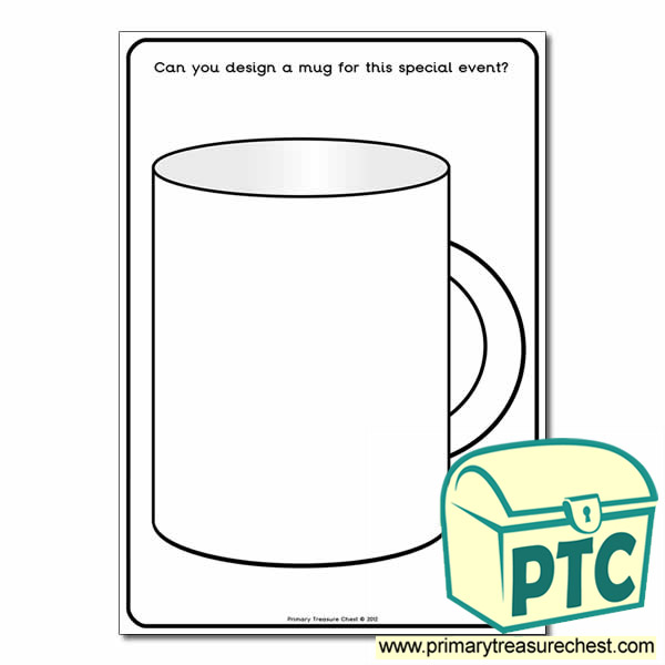 A4 'Design a Mug' worksheet.