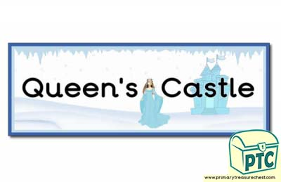 'The Queen's Castle' Display Heading/ Classroom Banner