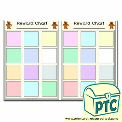 Bear themed reward chart