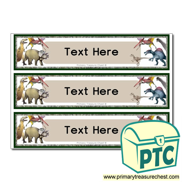 Free Dinosaur Themed Pupil Drawer Labels (Large)