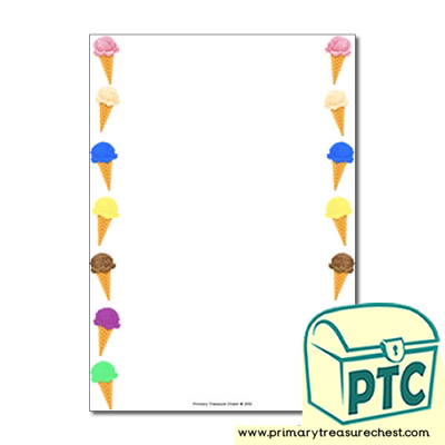 Ice Cream Page Border/Writing Frame (no lines)