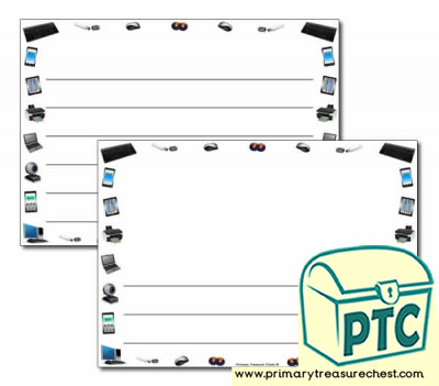 Electrical Appliances themed Landscape Page Border/ Writing Frames (wide lines)