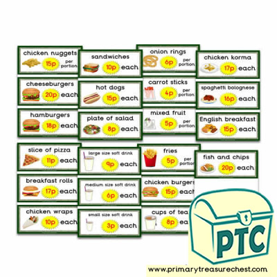 Dinosaur Park Cafe Flashcards (1-20p)