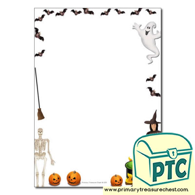 Halloween Page Border /Writing Frame (no lines)