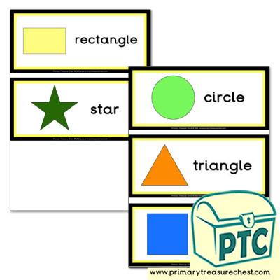 2D Shape Flashcards for Reception and Year 1