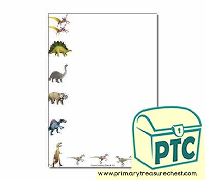 Dinosaur Themed Page Borders/Writing Frames (no lines)