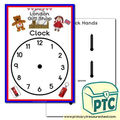 Role Play London Gift Shop Clock
