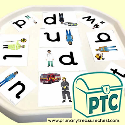 People Who Help Themed Phonics Tuff Tray Cards