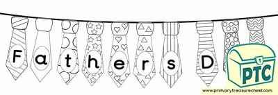 Fathers' Day Colouring Sheets Bunting