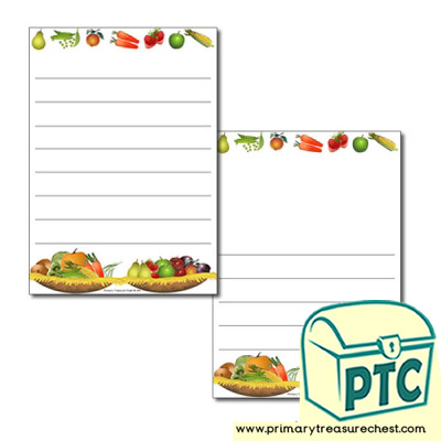 Harvest Page Border/Writing Frame (wide lines)