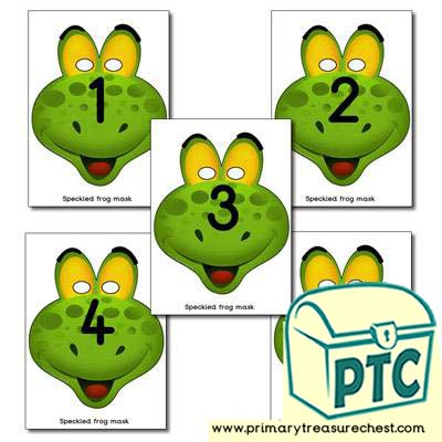 5 Speckled Frogs Role Play Masks