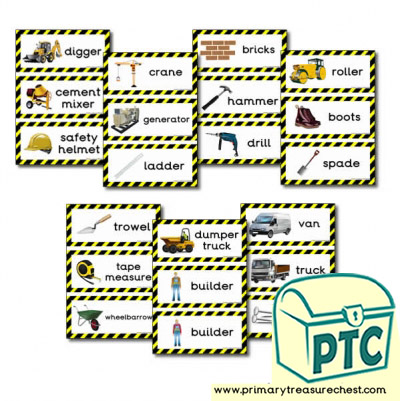 Role Play Construction Site Flashcards