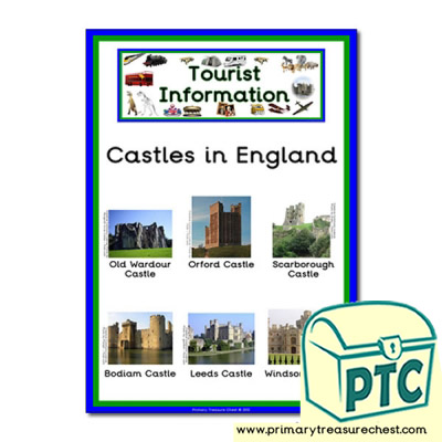 Role Play Tourist Information Castles in England Poster