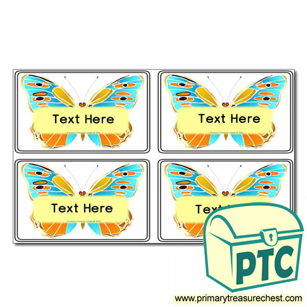 Minibeasts - Butterfly Themed Registration Name Cards