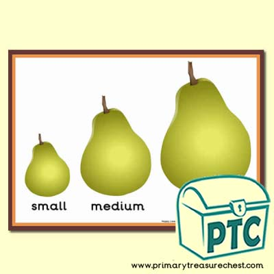 Pears Themed Different Sizes Poster