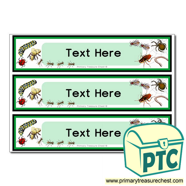Minibeast Themed Pupil Drawer Labels (Large)