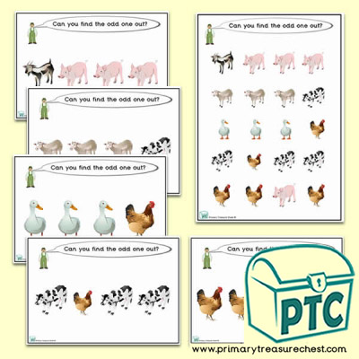Odd-One-Out Farm Animals Challenge Activity Stage 1