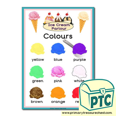 Ice Cream Colours Poster
