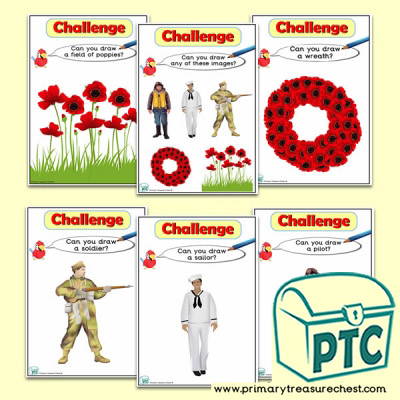 Remembrance Day Themed ICT Challenge Cards