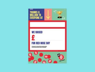 Red Nose Day Thank You Poster