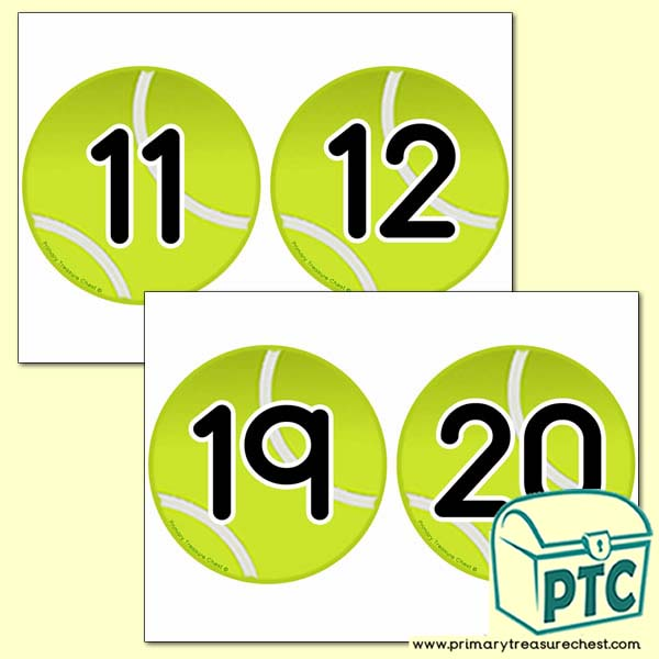 Tennis Balls Number Line - Tennis / Wimbledon Teaching Resources