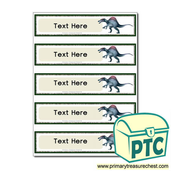 Spinosaurus Dinosaur Themed Pupil Drawer Labels (Small)