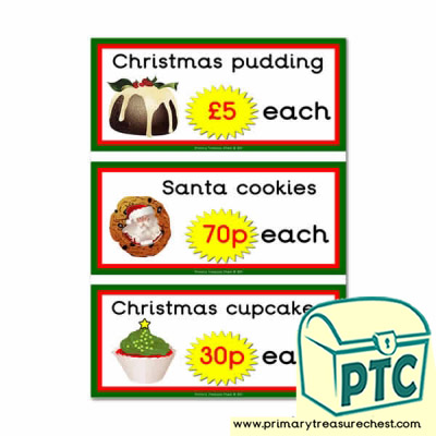 Christmas Cafe Prices (121p to £99)