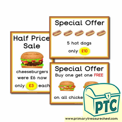 Fast Food Takeaway Role Play Special Offers (21p - £99)