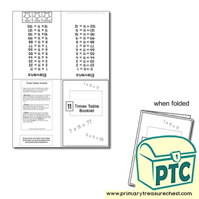 Eleven Times Table Booklet