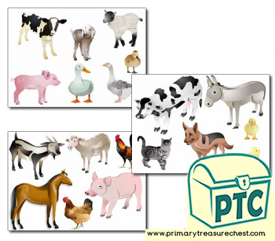 Farm Animals Storyboard / Cut & Stick Images