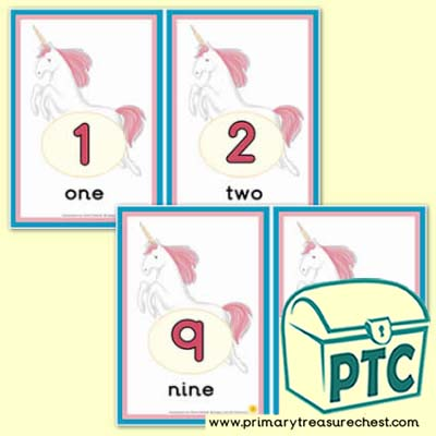 Unicorn Number Line 0-10 (with border) - Serenity the Sweet Dreams Resources