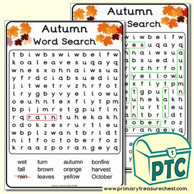A4 Autumn Word Search (Easy)