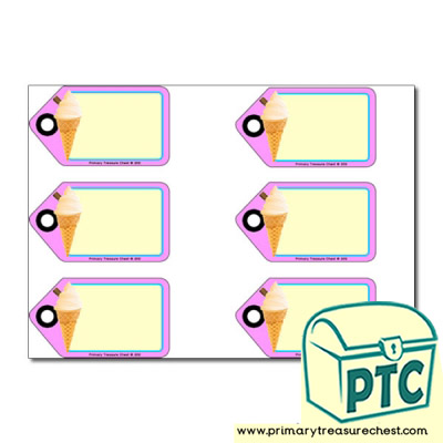 Ice Cream Parlour Role Play Tags/ Labels