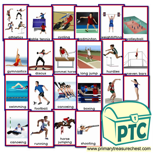 Athletics Themed Flashcards